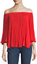 Vince Camuto Off-the-Shoulder Pleated Top