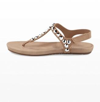 Pedro Garcia Judith Jeweled T-Strap Sandals, Sirocco