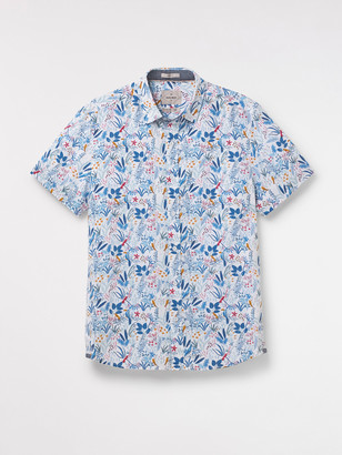 White Stuff Tropical Birds Print Shirt