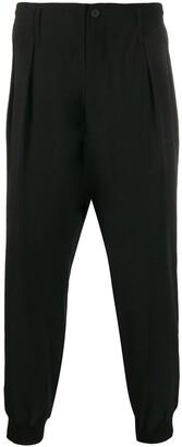 Yohji Yamamoto Pleated Cropped Trousers