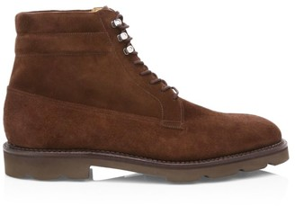 John Lobb Alder Lace-Up Suede Derby Boots