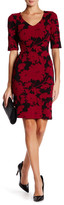 Julia Jordan Rio Knit Floral Bodycon Dress