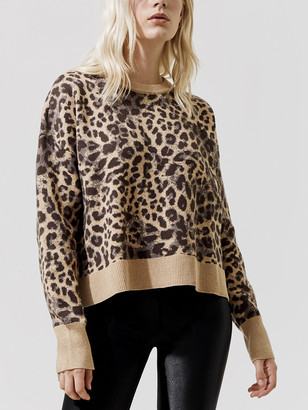 Spiritual Gangster Cheetah Glow Up Sweater