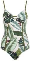 Seafolly Palm Tree Print Swimsuit