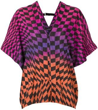 À La Garçonne Racing printed blouse