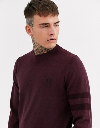 Fred Perry knitted sweater with arm stripe detail