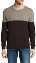 Portolano Colorblock Crewneck Sweater