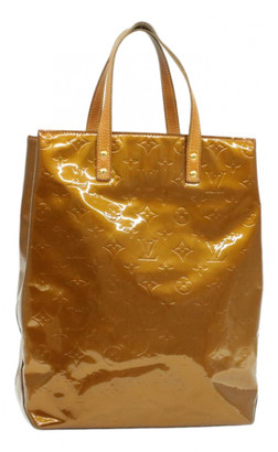 Louis Vuitton Reade Brown Patent leather Handbags
