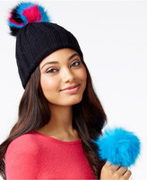 Betsey Johnson xox Trolls Beanie with Detachable Pom Pom, Only at Macy's