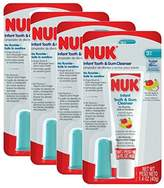 NUK Infant Tooth and Gum Cleanser and Finger Toothbrush Set, 1.4 Ounce (Pack of 4)