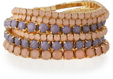 RJ Graziano Golden Stretch Bracelet Set, Blush/Purple