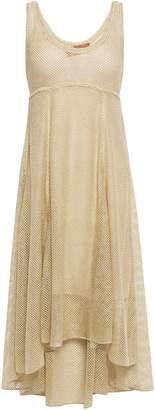 Missoni Metallic Crochet-knit Midi Dress