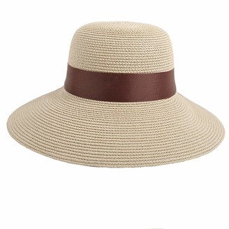 Ouneed- SYY Fashion Elegant Women Ladies Beach Anti-UV Sun Protection Hat Trilby Floppy Visor Straw Cap (Beige)