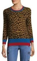 Etro Leopard Banded Crewneck