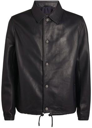 BOSS Leather Coach Jacket