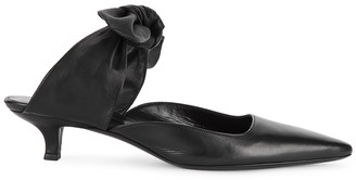 The Row Coco 50 Black Leather Mules