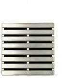 Ebbe America Unique Grate Parallel Drain, Brushed Nickel