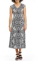 Allison Daley Jersey Fit & Flare Midi Dress