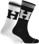 Tommy Hilfiger 2 Pack Patch Socks White