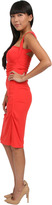 Nicole Miller Sleeveless Cut Out Dress in Coral