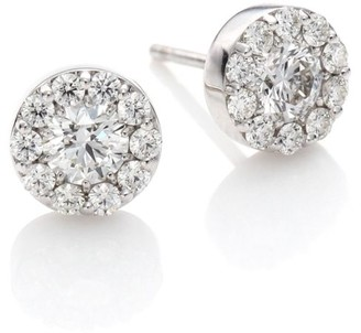 Hearts On Fire Fulfillment Diamond & 18K White Gold Stud Earrings