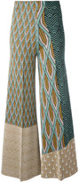 Circus Hotel printed panel palazzo pants - women - Polyester/Viscose - 42