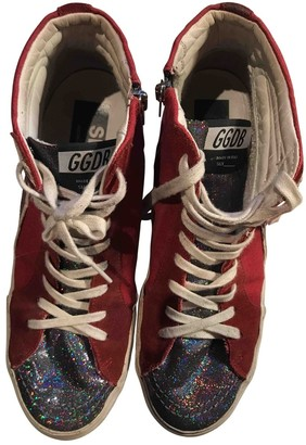 Golden Goose Slide Red Cloth Trainers