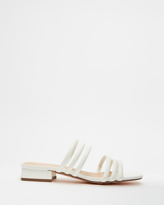 Therapy Women's White Strappy sandals - Lena - Size 7 at The Iconic