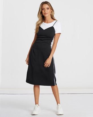 Calli Maria Stripe Detail Dress