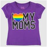 Young Hearts Toddler Girls' Love My Moms Pride T-Shirt - Purple
