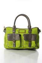 Marc by Marc Jacobs Multi-Color Neon Werdie Weary Leather Trim Medium Satchel