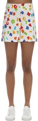 Moschino Magnet Print Stretch Viscose Shorts