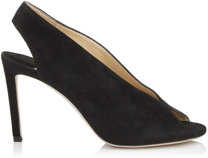Suede 85 Shar Booties Black Sandal cR5Aqj34L