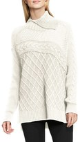 Vince Camuto Petite Women's Multi Stitch Cable Sweater