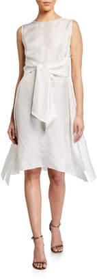 Brunello Cucinelli Asymmetric Silk Dress