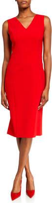 Carolina Herrera Sleeveless A-Line V-Neck Dress