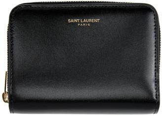 Saint Laurent Black Compact Zip Wallet