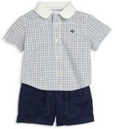 Ralph Lauren Baby's Two-Piece Plaid Cotton Shirt & Shorts Set