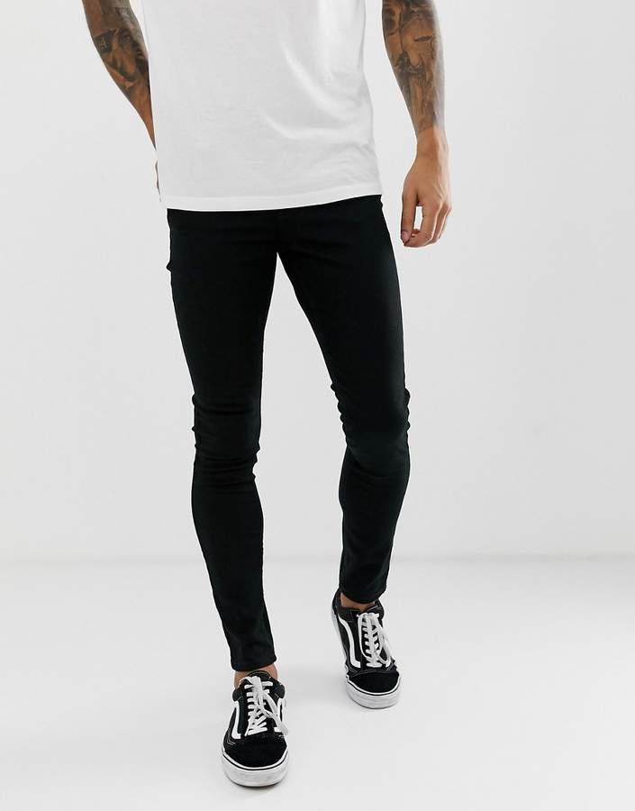 New Look skinny jeans in black wash
