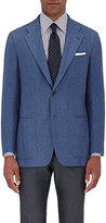 Kiton Men's Basket-Weave Two-Button Sportcoat-BLUE