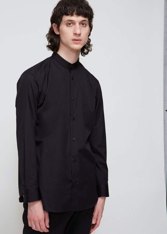 Issey Miyake Band Collar Broad Cloth Shirt