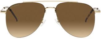 Saint Laurent Gold SL 392 Wire Sunglasses