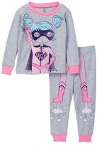 Petit Lem Pajama Top & Bottom 2-Piece Set (Baby Girls)