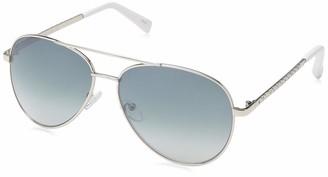 Laundry by Design Women's Ld265 Slvwh Iridium Aviator Sunglasses