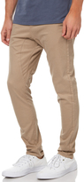 Zanerobe Salerno Mens Cotton Elasticated Waistline Chino Pants Tan