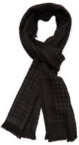 "Versace Houndstooth Wool Scarf, 72"" x 15"""