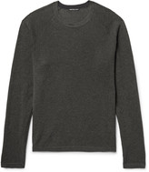 James Perse - Waffle-knit Cotton, Cashmere And Wool-blend Sweater