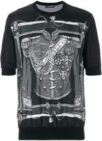 Dolce & Gabbana military uniform print T-shirt