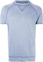 Majestic Filatures contrast stitch crewneck T-shirt - men - Linen/Flax/Spandex/Elastane - S