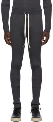 UNIFORME Grey Merino Rib Knit Lounge Pants